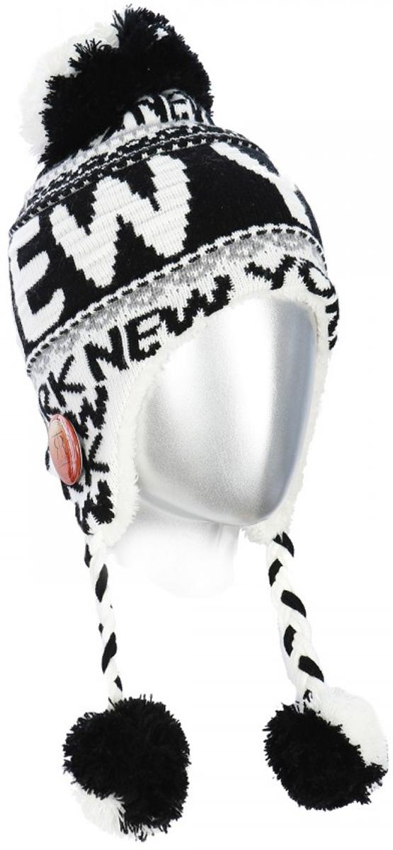 цена Шапка Robin Ruth New-York, цвет: белый, черный. HNY515-A. Размер универсальный онлайн в 2017 году