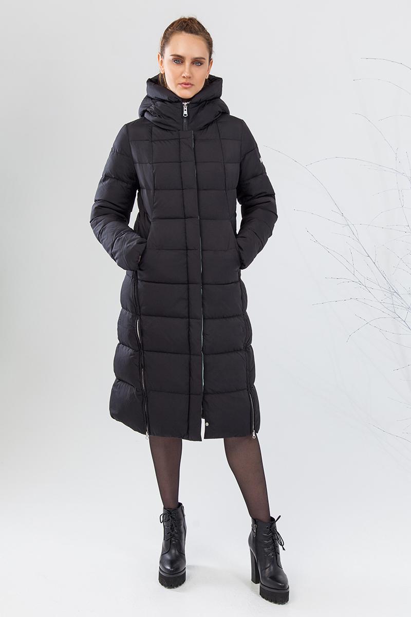 Куртка женская Clasna, цвет: черный. CW17D-069CW. Размер L (46)CW17D-069CW(701)Наполнитель био-пух.