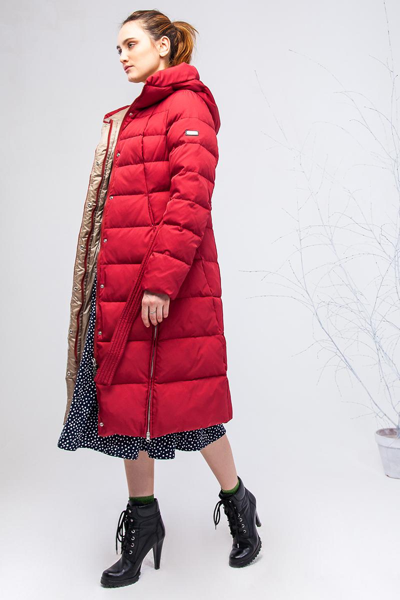 Куртка женская Clasna, цвет: красный. CW17D-069CW. Размер L (46)CW17D-069CW(195)Наполнитель био-пух.