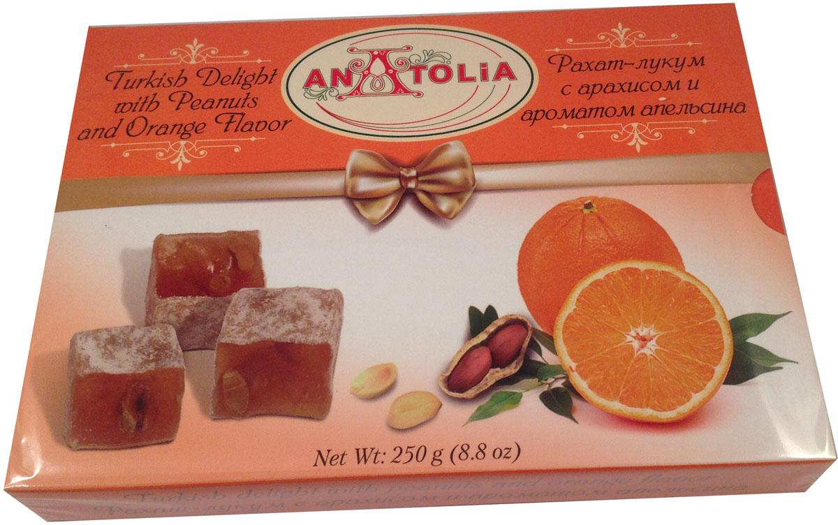 Anatolia рахат-лукум с арахисом и ароматом апельсина, 250 г авторские бусы рахат лукум перламутр хрусталь