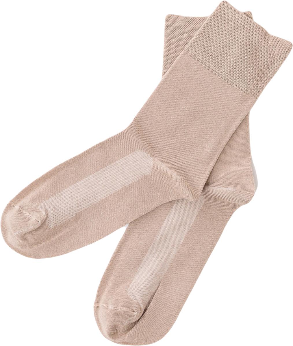 Носки мужские Mark Formelle, цвет: бежевый. 055K-131. Размер 40/41055K-131Удобные носки от Mark Formelle с охлаждающим эффектом Cooling Effect, изготовленные из высококачественного бамбукового материала с добавлением полиамида и эластана, очень мягкие и приятные на ощупь, позволяют коже дышать. Эластичная резинка плотно облегает ногу, не сдавливая ее, обеспечивая комфорт и удобство.