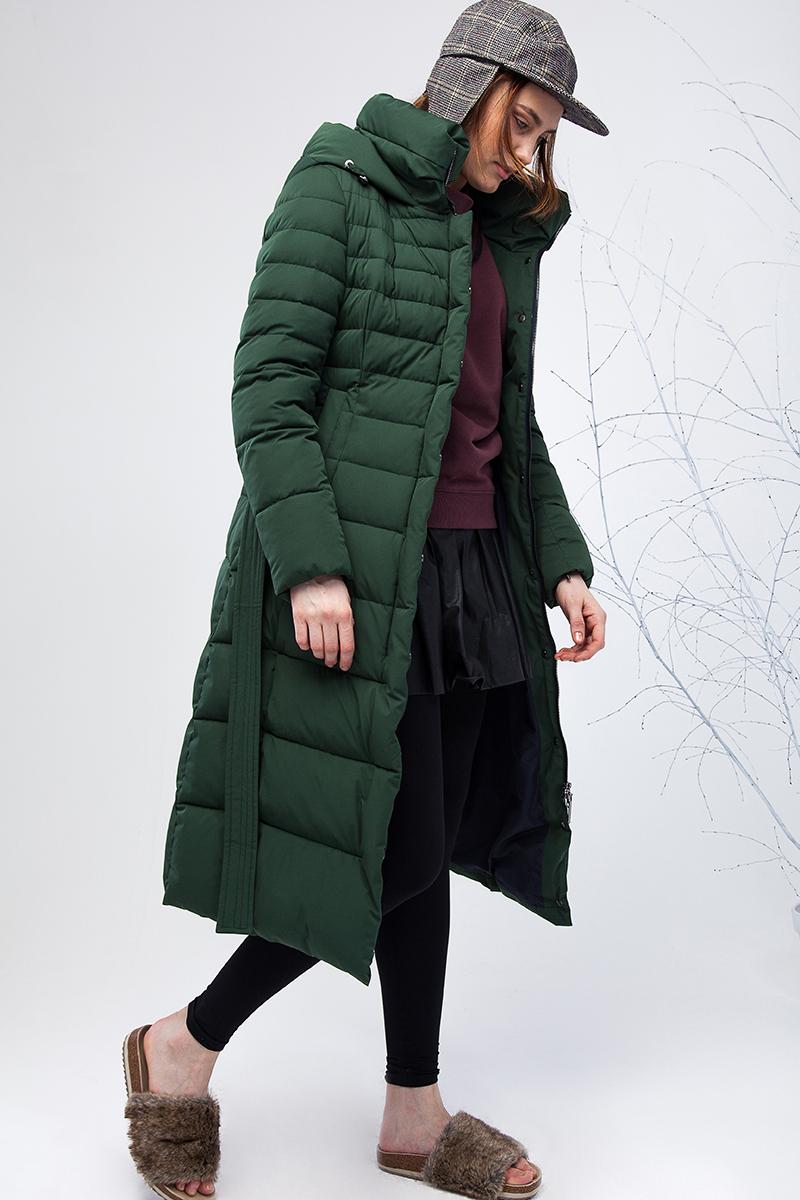 Пуховик женский Clasna, цвет: зеленый. CW17D-046CW. Размер XL (48)
