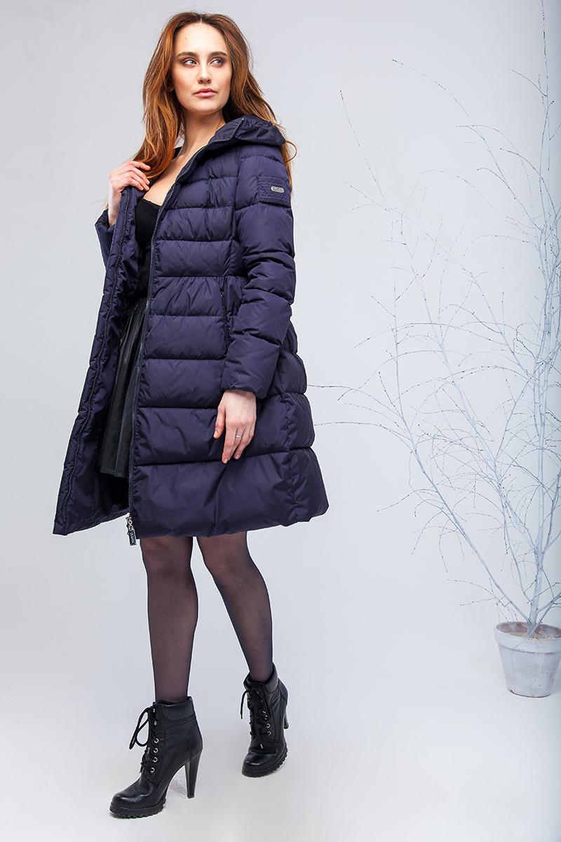 Куртка женская Clasna, цвет: темно-синий. CW17D-039CW. Размер M (44) зимний пуховик