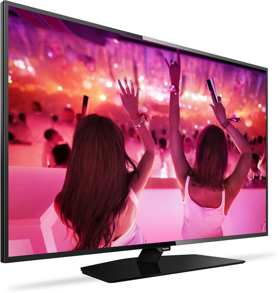 Philips 43PFT5301/60, Black телевизор43PFT5301/60Philips Philips 43PFT5301/60 - сверхтонкий светодиодный Full HD LED-телевизор.Picture Performance Index сочетает в себе технологию Philips для дисплеев и усовершенствованные техники обработки для улучшения качества каждого аспекта изображения: четкости, динамичных сцен, контрастности и цветопередачи. Независимо от источника вы сможете наслаждаться четким изображением с потрясающей детализацией, глубокими оттенками черного и яркими оттенками белого, а также насыщенными цветами и естественной цветопередачей.Процессор Philips Pixel Plus HD оптимизирует качество изображения и обеспечивает кристальную четкость и великолепную контрастность. При потоковой передаче или просмотре дисков вы всегда будете наслаждаться четким изображением с яркими оттенками белого и глубокими оттенками черного.Благодаря специализированному ПО, которое анализирует 6400 областей изображения и адаптирует его к текущим условиям, вы сможете насладиться высококонтрастным, качественным и невероятно реалистичным изображением.Откройте для себя интеллектуальные возможности этого телевизора. Настраивайте потоковую передачу фильмов, видео или игр, приобретая их в онлайн-магазинах. Просматривайте прошедшие передачи с любимых телеканалов и наслаждайтесь широким выбором интернет-приложений в Smart TV.Делитесь впечатлениями. Подключите USB-накопитель, цифровую камеру, MP3-плеер или другое мультимедийное устройство через USB-вход телевизора и смотрите фотографии, видео или слушайте музыку, используя удобный экранный обозреватель.Использование одного кабеля HDMI, передающего как видео-, так и аудиосигнал с устройства на телевизор, решает проблему спутанных проводов. HDMI передает несжатые сигналы, обеспечивая самое высокое качество изображения, передаваемого на экран с источника. Благодаря Philips EasyLink вам потребуется лишь один пульт ДУ для выполнения большинства операций: управление телевизором, DVD, Blu-Ray, телеприставкой или домашним кинотеатром.
