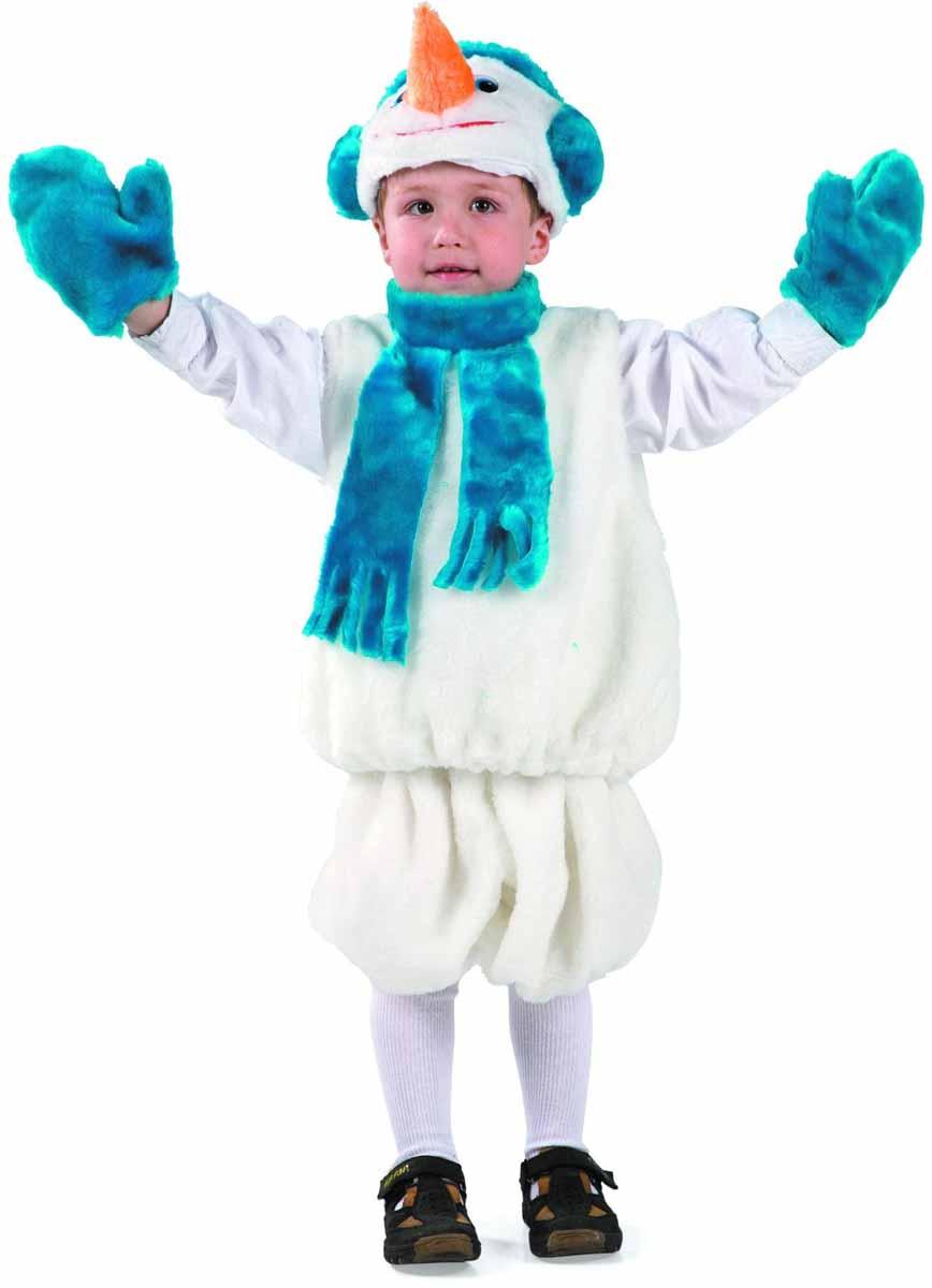 Батик Карнавальный костюм для мальчика Снеговик размер 28