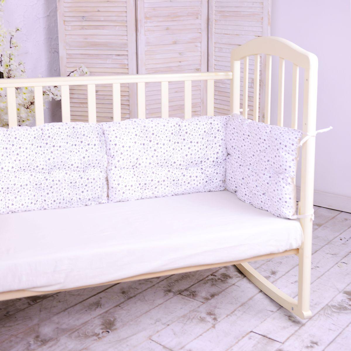 HoneyMammy Бортики-подушки в кроватку Universe - Детский текстиль