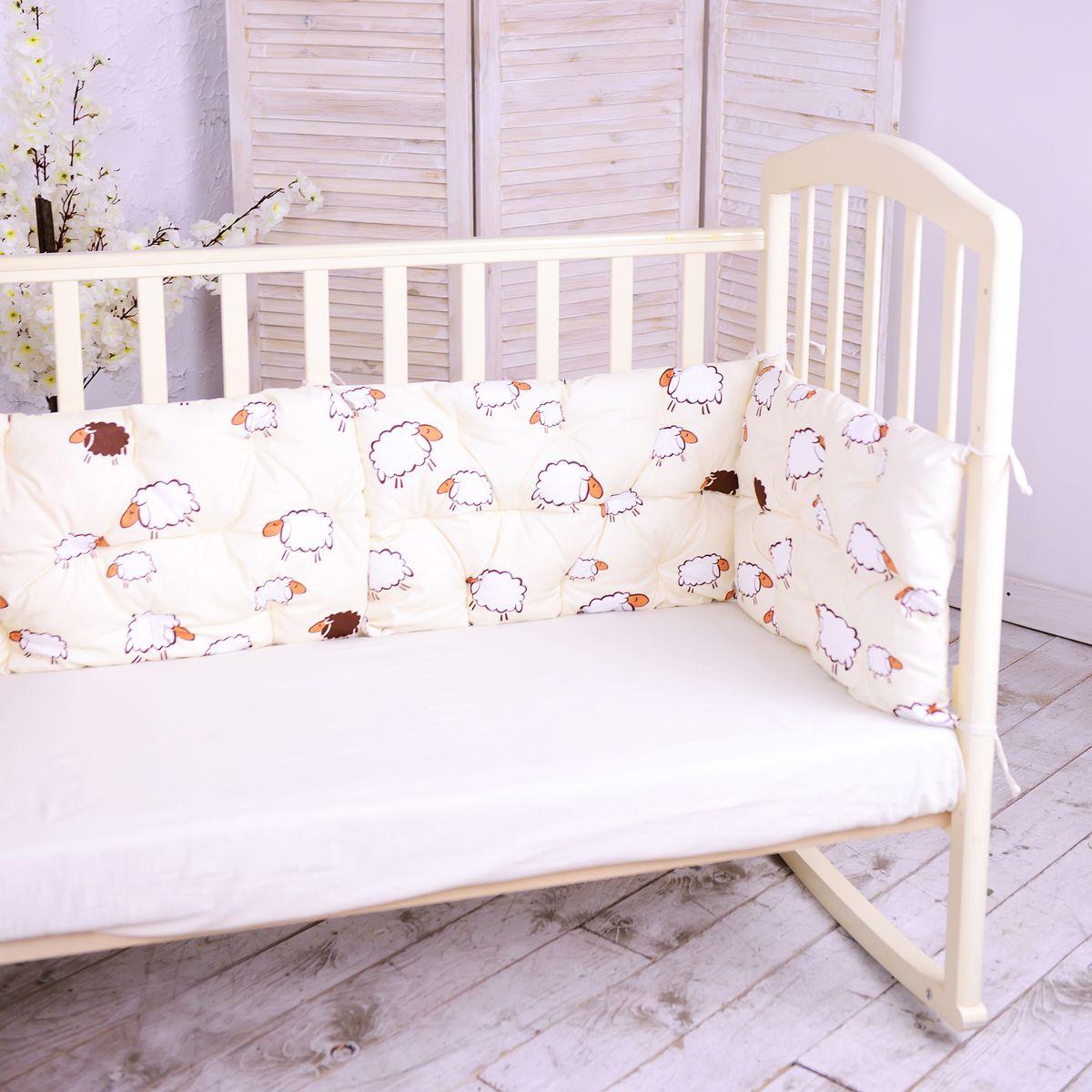HoneyMammy Бортики-подушки в кроватку Sheeps - Детский текстиль