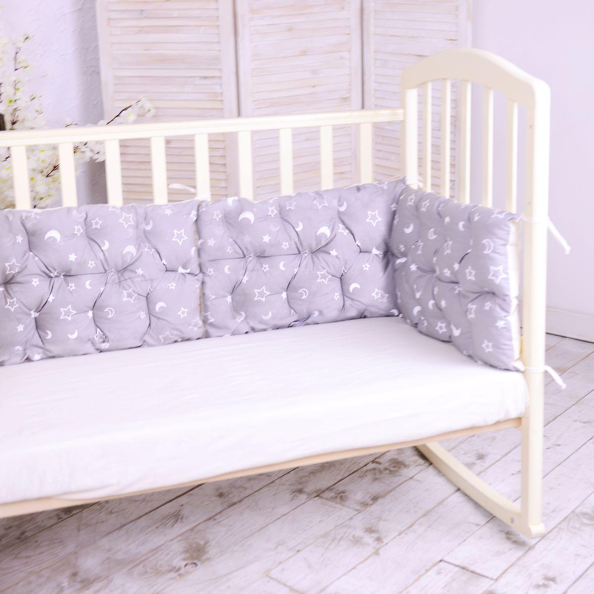 HoneyMammy Бортики-подушки в кроватку Night Sky - Детский текстиль