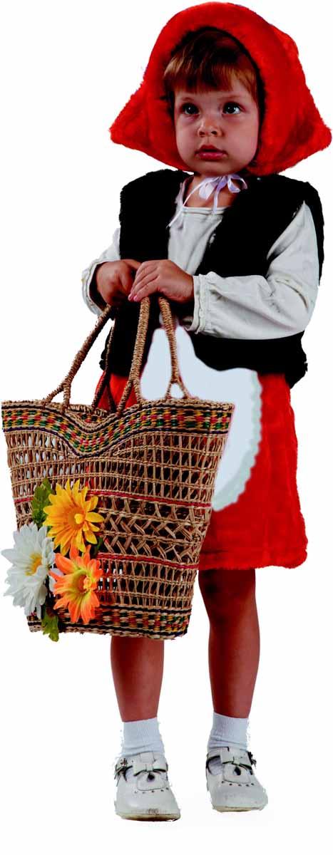 Батик Костюм карнавальный Красная шапочка цвет красный белый черный размер 28