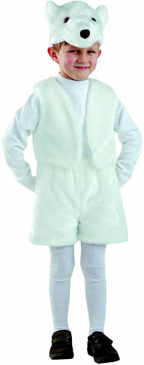 Батик Карнавальный костюм для мальчика Белый медведь размер 28