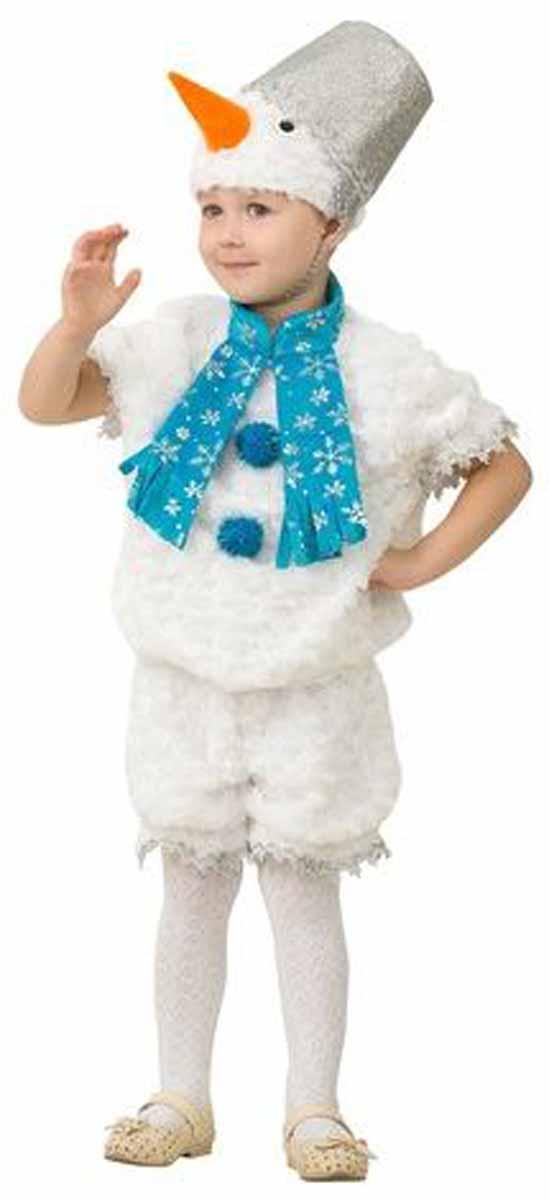 Батик Костюм карнавальный Снеговичок Снеговишка размер 28 батик карнавальный костюм капитан флинт