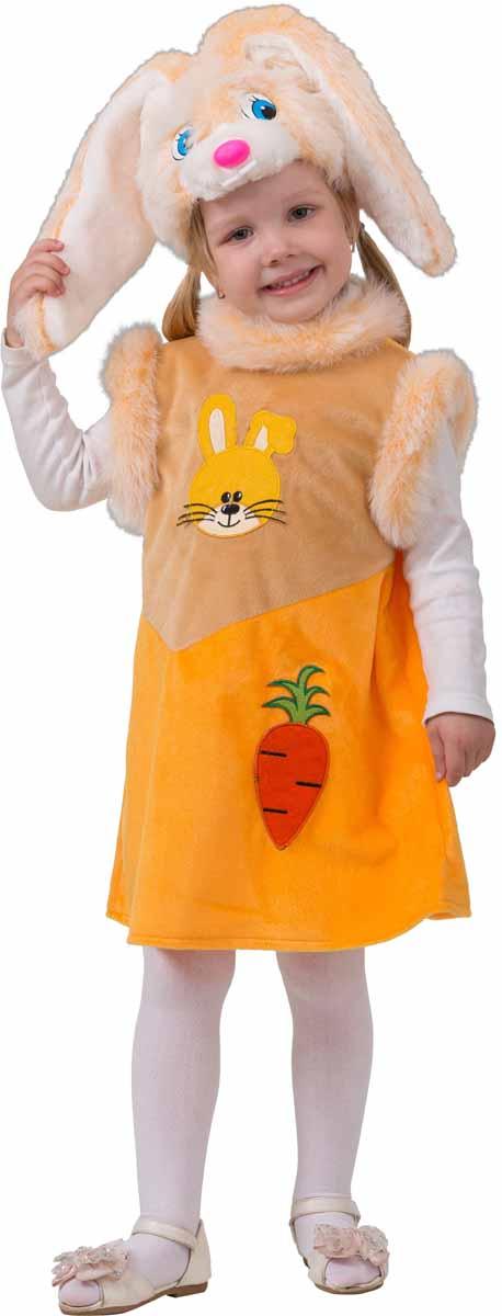 Батик Карнавальный костюм для девочки Зайка Лакомка размер 28 батик карнавальный костюм для девочки снежинка размер 28