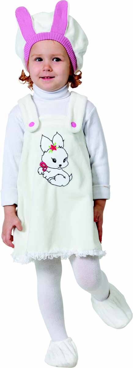 Батик Карнавальный костюм для девочки Зайка размер 26 костюм маленькой снежинки 32