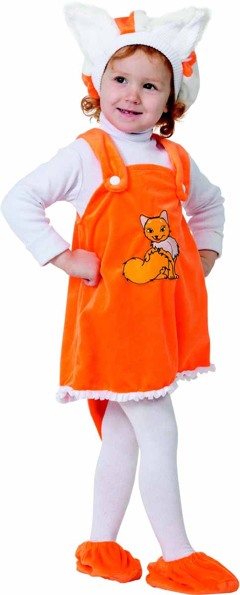 все цены на Батик Карнавальный костюм для девочки Лисичка размер 26 в интернете
