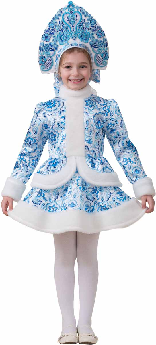 Дженис Костюм карнавальный Снегурочка Гжель размер 32 - Карнавальные костюмы и аксессуары