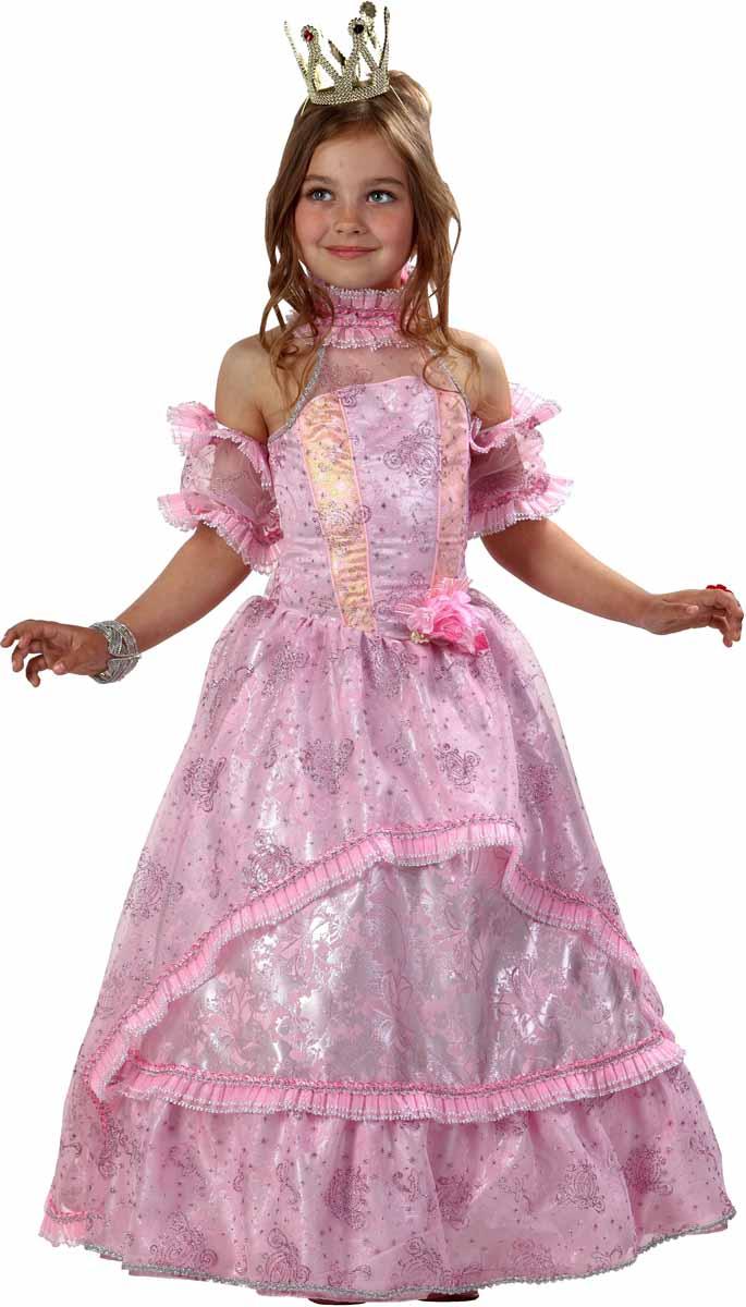 Батик Карнавальный костюм для девочки Золушка-Принцесса цвет розовый размер 34 костюм маленькой снежинки 32