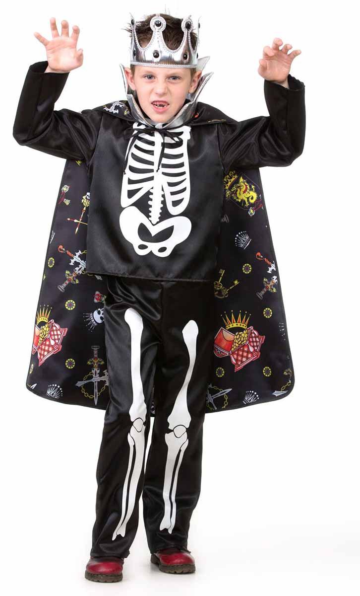 Дженис Карнавальный костюм для мальчика Кощей Бессмертный размер 32 костюм озорного клоуна детский 32 34