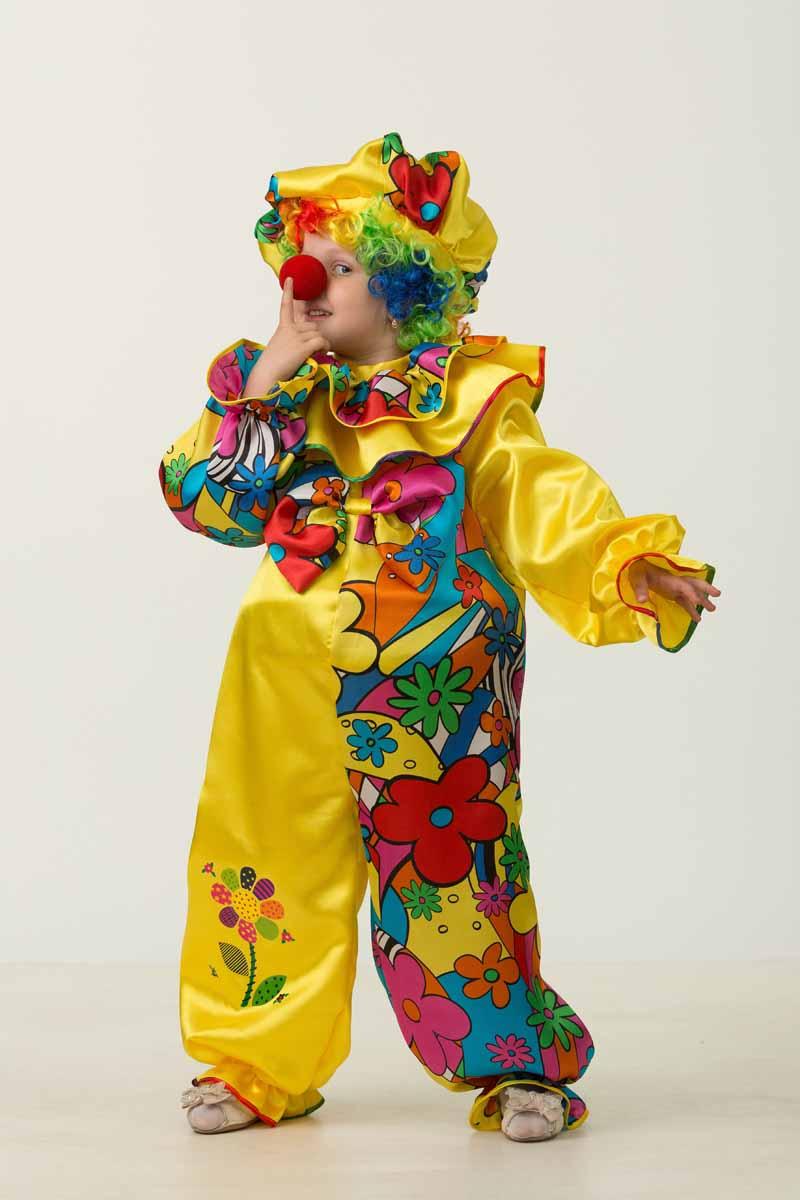 Дженис Карнавальный костюм для мальчика Клоун размер 32 костюм озорного клоуна детский 32 34