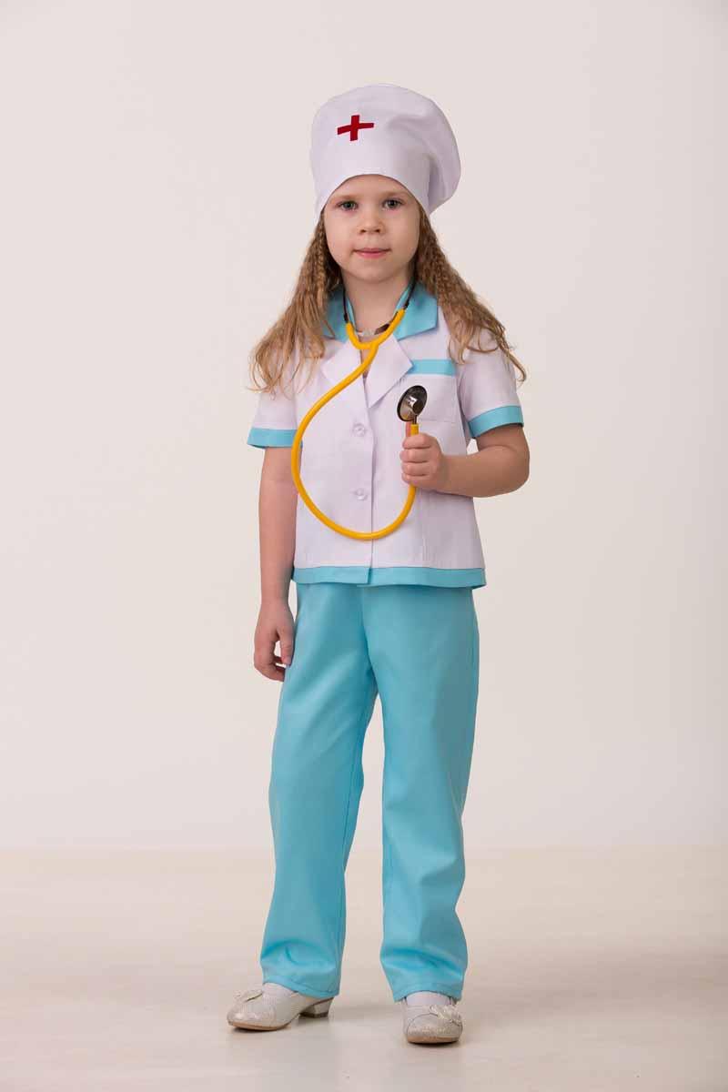 Дженис Костюм карнавальный Медсестра-2 размер 28 брюки размер 28 это какой размер
