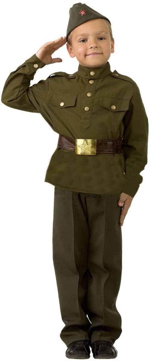 Батик Костюм карнавальный Солдат размер 28 пилотка страна карнавалия солдат размер 56 58 см