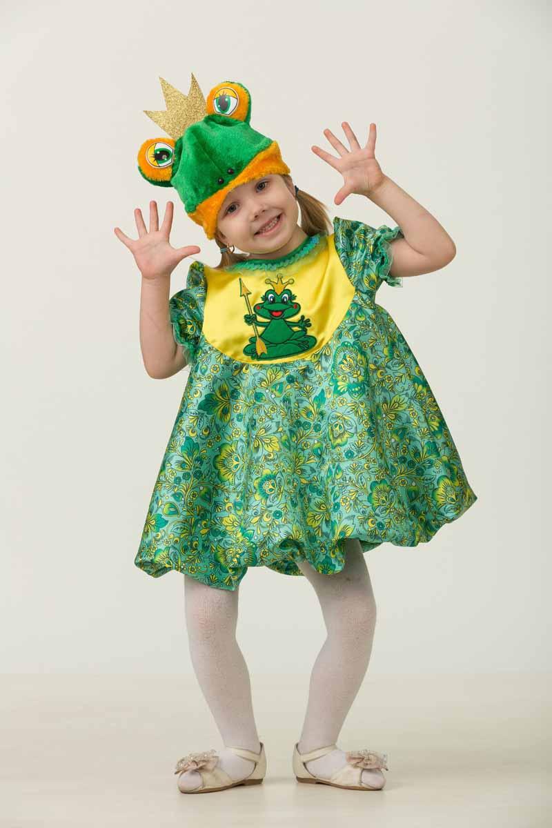 Дженис Карнавальный костюм для девочки Царевна-Лягушка размер 30 костюм снежной малышки 40 44