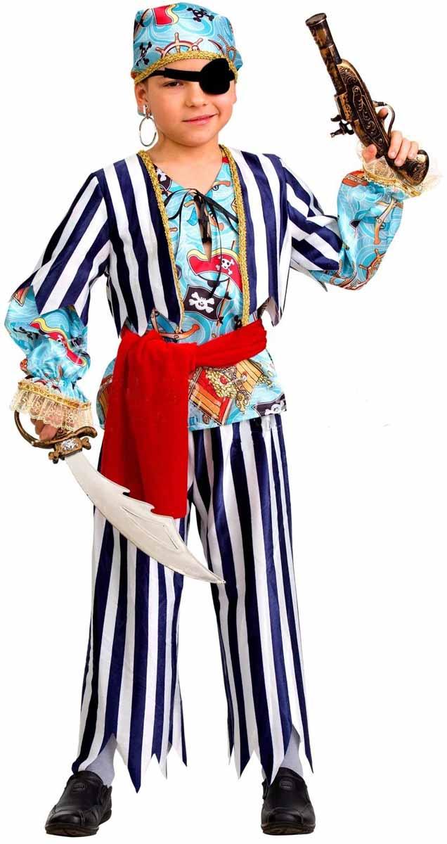 Дженис Карнавальный костюм для мальчика Пират размер 32 костюм озорного клоуна детский 32 34