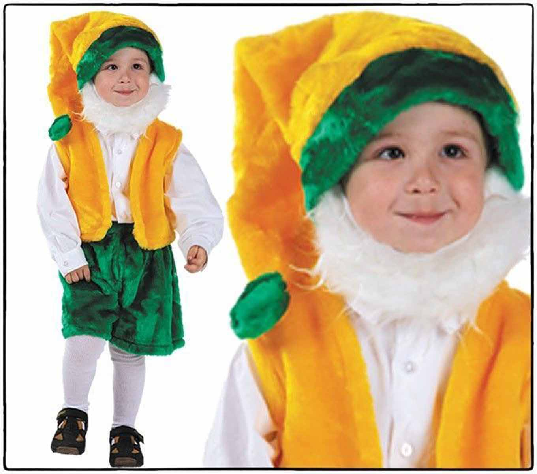 Батик Карнавальный костюм для мальчика Гном с бородой размер 28