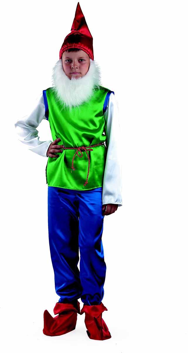 Батик Карнавальный костюм для мальчика Гном размер 28 батик костюм карнавальный ежик размер 28