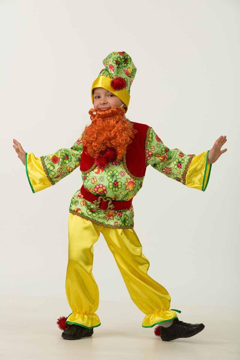 Дженис Карнавальный костюм для мальчика Гномик размер 32 костюм озорного клоуна детский 32 34