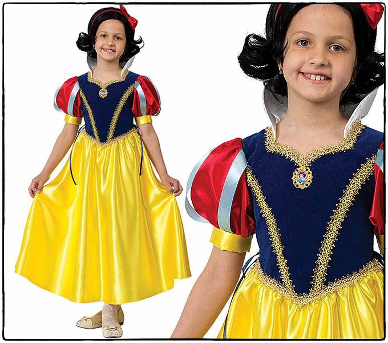 Батик Костюм карнавальный Принцесса Белоснежка размер 32