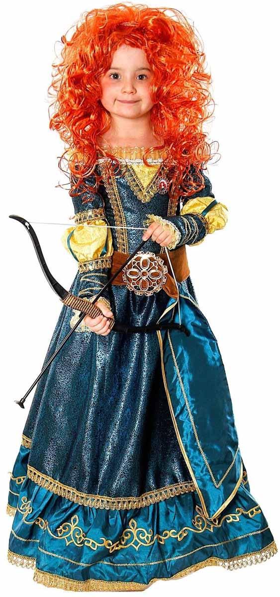 Батик Карнавальный костюм для девочки Принцесса Мерида размер 34 батик костюм карнавальный для девочки королева мушкетеров размер 34
