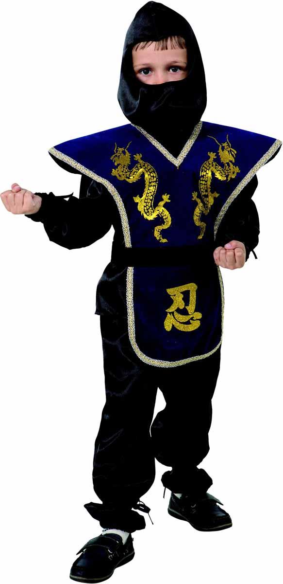 Батик Костюм карнавальный для мальчика Ниндзя размер 34 батик карнавальный костюм капитан флинт