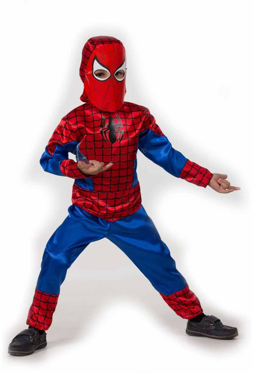 Батик Костюм карнавальный для мальчика Человек-Паук размер 36