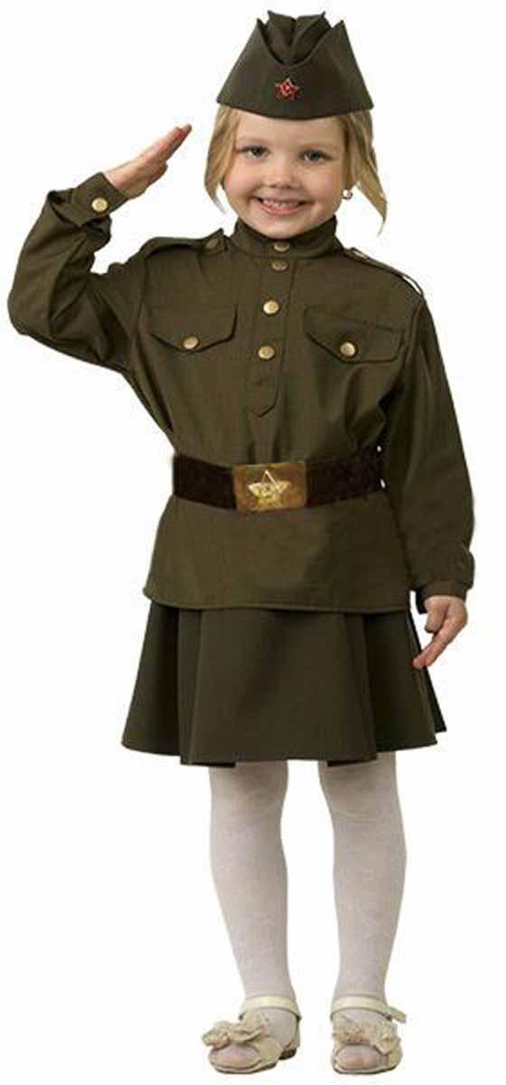 Батик Костюм карнавальный Солдатка размер 28 пилотка страна карнавалия солдат размер 56 58 см