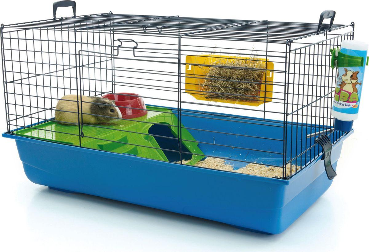 Клетка для грызунов Savic  Nero De Luxe , цвет: синий, 80 х 50 х 44 см - Клетки, вольеры, будки