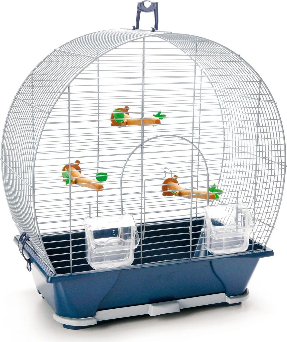 Клетка для птиц Savic  Evelyne , цвет: серебристый, голубой, 42 х 25 х 47 см - Клетки, вольеры, будки