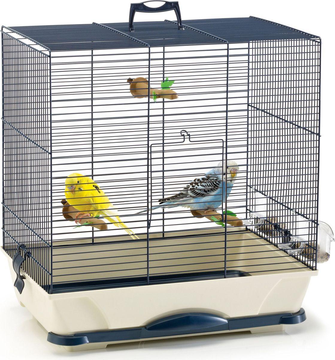 Клетка для птиц Savic Primo, цвет: синий, голубой, 46 х 32 х 48 см кормушка для птиц savic weekend feeder 5905 0000