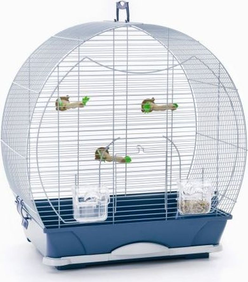 Клетка для птиц Savic Evelyne, цвет: серебристый, голубой, 52 х 32,5 х 55 см корм для птиц vitakraft menu vital для волнистых попугаев основной 1кг