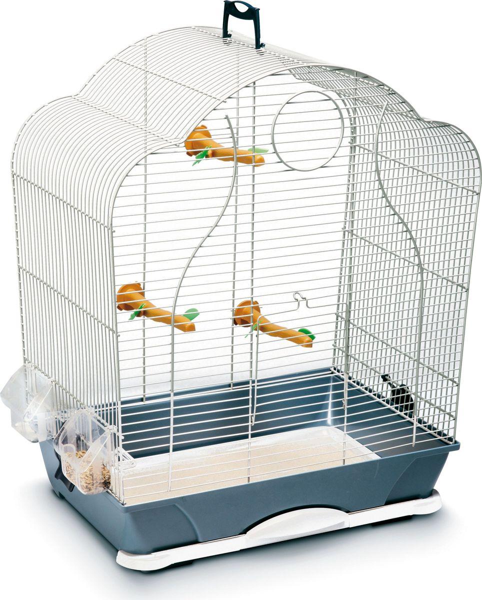 Клетка для птиц Savic Isabelle, цвет: серебристый, голубой, 47,5 х 32,5 х 60 см5535-9201Клетка для мелких птиц: волнистых попугаев, канареек и других видов. Комплектация: 3 пластиковых жердочки, 2 кормушки.Клетка несомненно понравится вашим питомцам.