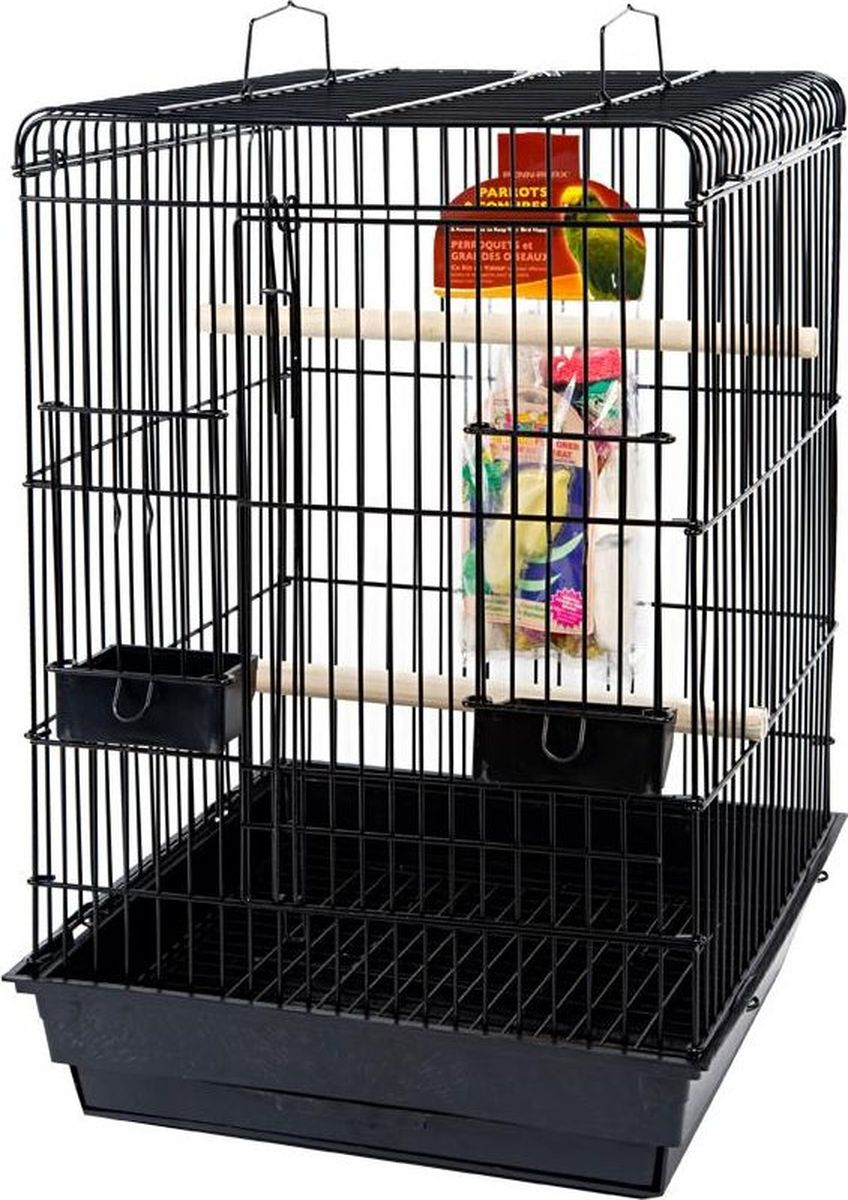 Клетка для птиц Penn-Plax Parrot Starter, цвет: черный, 47 х 47 х 70 см панцирь каракатицы trixie с держателем для птиц