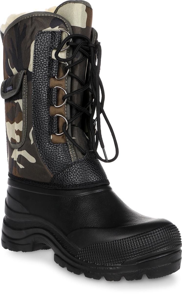 Сапоги зимние EVA Shoes Аляска (-40), цвет: черный, болотный камуфляж. Размер 4159113_черный, болотный камуфляж.Сапоги зимние EVA Shoes Аляска (-40), цвет: черный, болотный камуфляж. Размер 41
