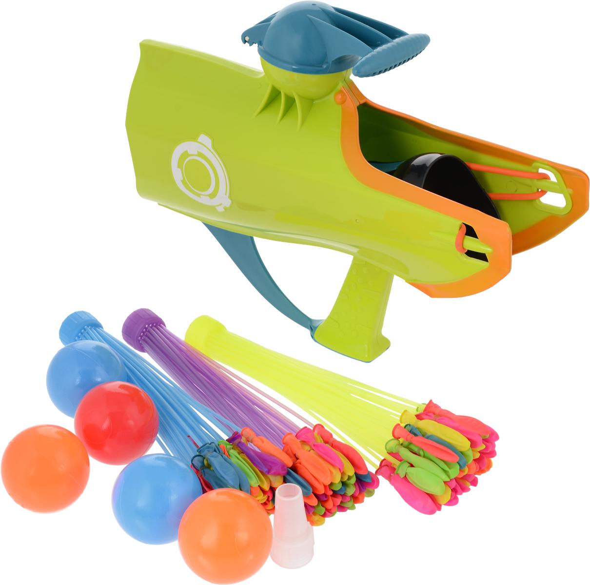 Веселые забавы Бластер для снежков водных бомбочек и мячей 3 в 1PT-00868Бластер Веселые забавы - это яркое, удобное, легкое и практичное устройство, позволяющее запускать разнообразные снаряды. С этой игрушкой невозможно остаться в стороне от веселой игры. Яркие цвета, современный дизайн и безопасные материала делают эту игрушку идеальным выбором для игр на активном воздухе. Можно играть и зимой и летом! Бластер позволяет запускать входящие в комплект мягкие мячики, водные бомбочки и даже снежки! Бластер снабжен специальным прессом, который позволяет формировать снежки идеальной формы. Устраивайте снежные или водные баталии, лепите крепости и замки или посоревнуйтесь с друзьями в меткости!