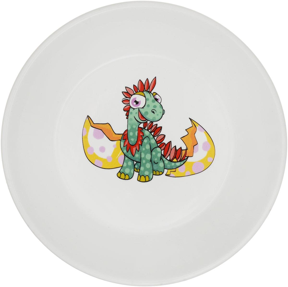 Кубаньфарфор Блюдце Динозаврик и скорлупа2220071_динозаврик и скорлупаДетское блюдце Кубаньфарфор Динозаврик и скорлупа идеально подойдет для кормления малыша и самостоятельногоприема пищи. Глубокое блюдце выполнена из фаянса, его высокие бортики обеспечат удобство кормления ипредотвратят случайное проливание жидкой пищи.Яркое блюдца с красочным рисунком на дне непременно порадует малыша и сделает любой прием пищи приятным ивеселым. Блюдце можно использовать в СВЧ-печах и мыть в посудомоечных машинах.