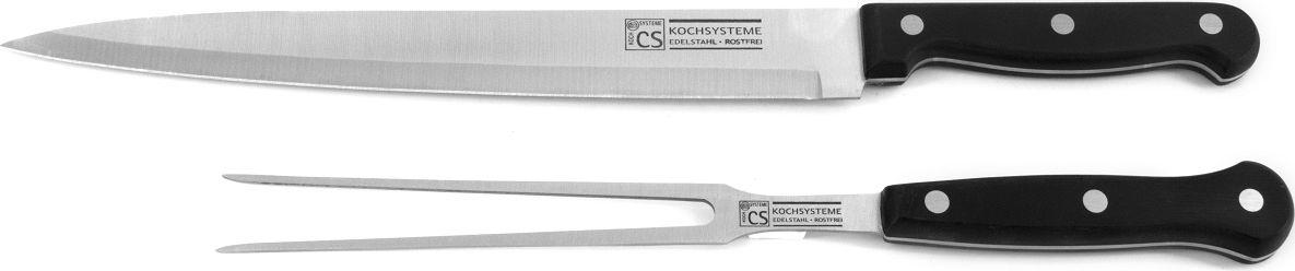 Набор ножей STAR изготовлен из высококачественной нержавеющей стали. Ручка эргономичной формы очень хорошо лежит в руке. Набор состоит из 2 предметов (разделочный нож, стейк-вилка), 2 предмета в картонной коробке