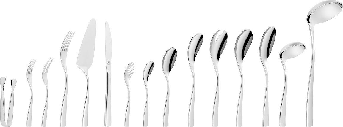 Столовые приборы серии GLINDE изготовлены из высококачественной нержавеющей стали с глянцевой полировкой. Набор на 12 персон состоит из 72 предметов: 12 столовых ножей, 12 столовых вилок, 12 столовых ложек, 12 вилок для торта, 12 кофейных ложек, 2 вилки для мяса, 2 сервировочные ложки, черпак, ложка для соуса, ложка для салата, вилка для салата, лопатка для торта, ложка для крема, ложка для сахара, щипцы для сахара, упакованные в подарочную коробку. Можно мыть в посудомоечной машине. Упакован в подарочную коробку