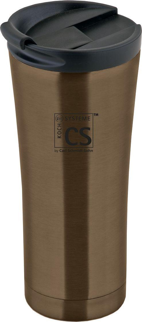Термокружка Cs-Kochsysteme Brilon, цвет: коричневый, 500 мл060763 кофейныйТермокружка BRILON, 500 мл, с двойными стенками, изготовлена из высококачественной нержавеющей стали. Устойчива к воздействию высоких температур, герметична и противоударна. Надёжная застёжка LeakProof защитит от протеканий. Подходит для большинства автомобильных держателей стаканов. Упакована в подарочную коробку.