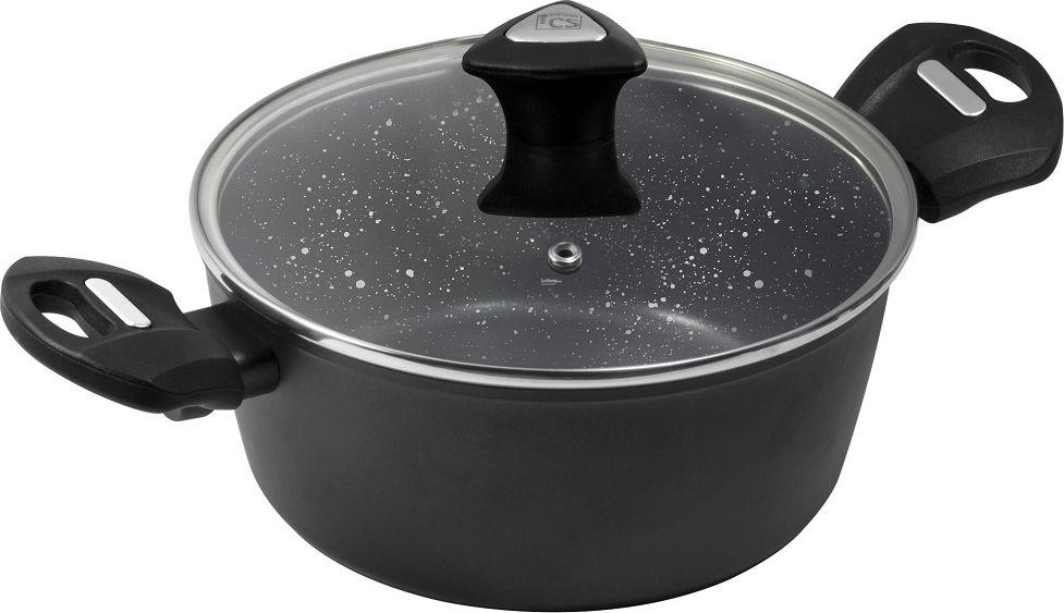 Кастрюля Cs-Kochsysteme Marburg, с крышкой, цвет: черный, 2,5 л marburg nena 57229