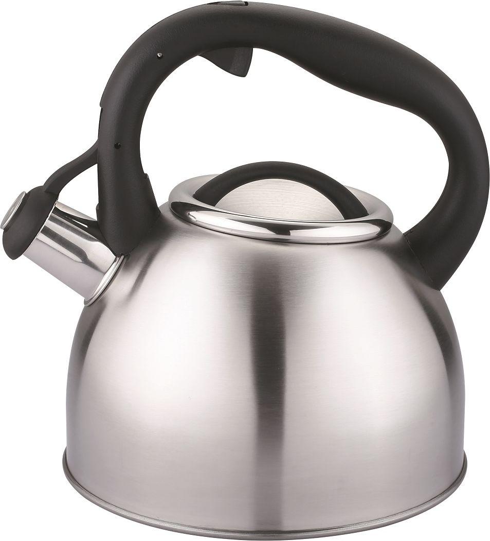Чайник Cs-Kochsysteme Bonn, со свистком, цвет: серый металлик, 2,5 л