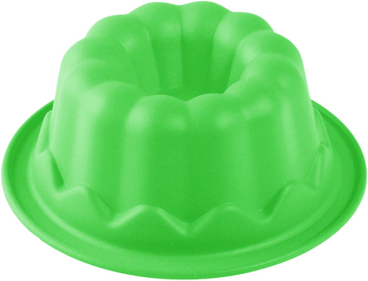 Форма для выпечки Доляна Пуддинг, цвет: салатовый, 11 х 11 х 4,5 см708000_салатовый
