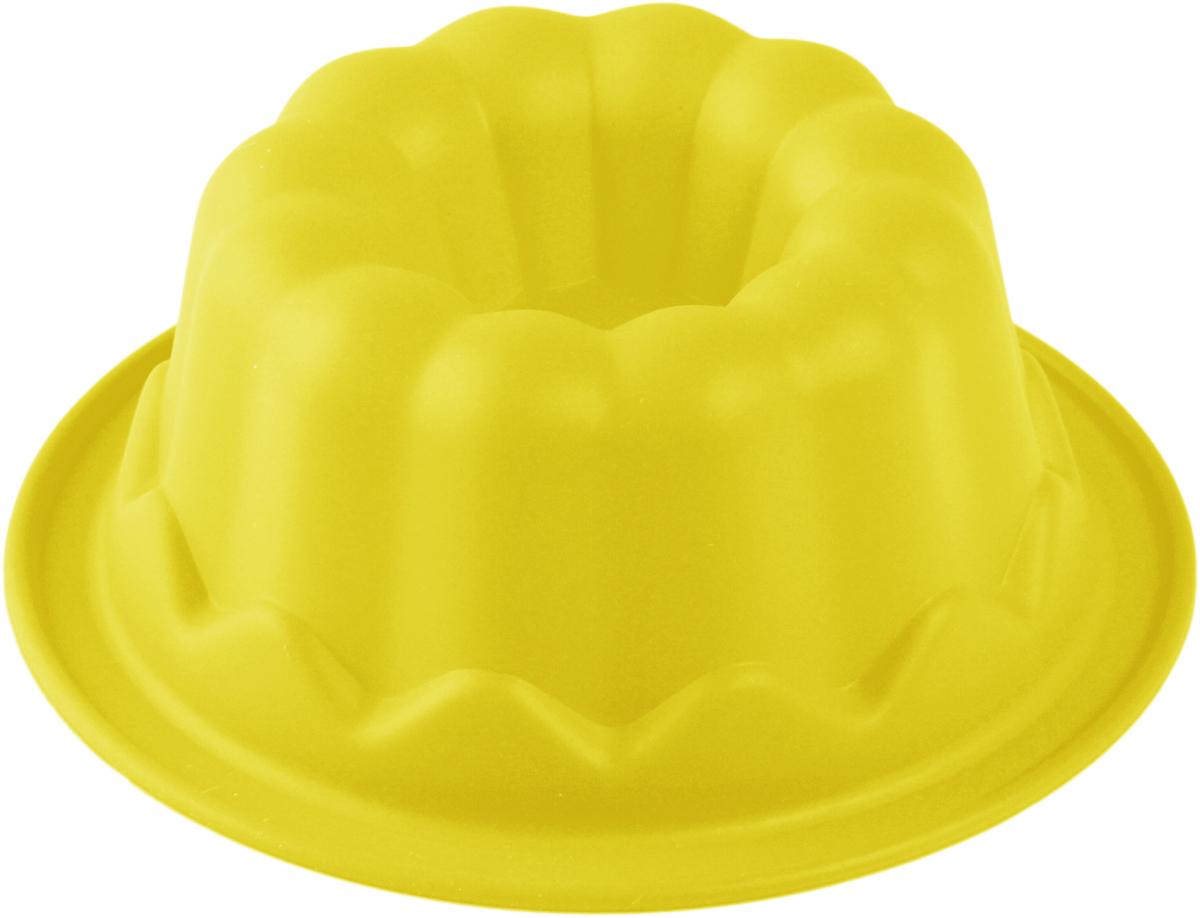 Форма для выпечки Доляна Пуддинг, цвет: желтый, 11 х 11 х 4,5 см708000_желтый